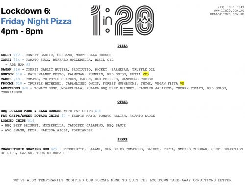 Pizzas on again tonight! 4-8pm